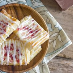 Sweet, flaky, buttery puff pastries filled with raspberry swirled cream cheese!