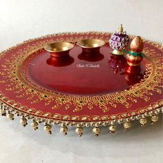 Your place to buy and sell all things handmade Diwali Decorations, Indian Wedding Decorations, Festival Decorations, Craft Decorations, Arti Thali Decoration, Kalash Decoration, Indian Wedding Food, Engagement Ring Platter, Diwali Craft