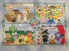 Oz Sampler Stitch-Along: Wizard of Oz Inspired Parody Cross