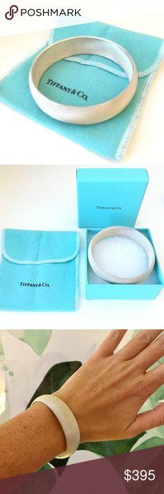Tiffany Sterling Silver Bangle Bracelet Tiffany & Co sterling silver woven mesh bracelet. Mint condition with original packaging. Tiffany & Co. Jewelry Bracelets