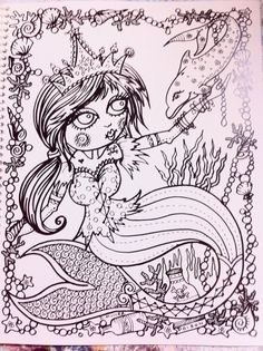 Naughty Pirate Mermaids Coloring Book For You to by ChubbyMermaid ...