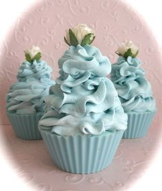 Blue Belles Cupcake Soap. This may be soap, but if it was a real cupcake, I sure bet it'd be tasty!!