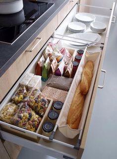 Organisation, deep drawers.