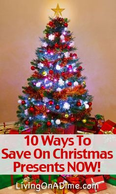 Did you know that if you start now you can cut your Christmas present budget in 1/2!! Click here to get these 10 Easy Tips to Save on Christmas Presents http://www.livingonadime.com/save-christmas-gifts-presents-now/