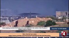 heavy fighting between the Syrian army and militants in the center of th...