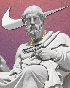 from desktop or your mobile device Aesthetic Statue, Vaporwave Art, Nike Wallpaper, Dope Wallpapers, Poster Design Inspiration, Famous Art, Aesthetic Iphone Wallpaper, Collage Art, Sculpture Art