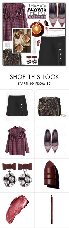 """""""#55. Buzz-Worthy: Coffee Date"""" by wannanna ❤ liked on Polyvore featuring Anastasia Beverly Hills, Anna Sui, Charlotte Russe and Illamasqua"""