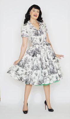 Lauren Dress Black Toil #1950s-pin-up #50s-dresses #50s-pin-up #bernie-dexter…