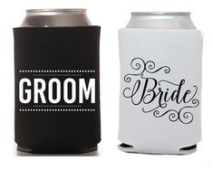 Bride Groom Can Cooler Wedding Gift Idea And