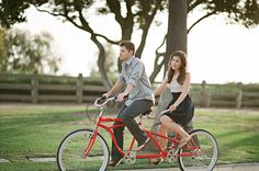 my dream come true. i have always had this fantasy about a red two seater bicycle being the mode of transportation on a date, right @Lynsey Gauman?