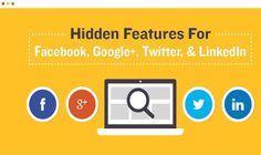 Las funciones ocultas en las Redes Sociales que tal vez desconozcas (infografía)