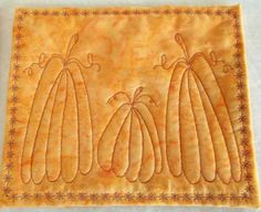 Pumpkin Mug Rugs Snack Mats or Coasters