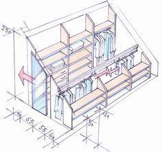 62 Ideas Attic Bedroom Storage Ideas Slanted Walls For 2019 Library Bedroom, Attic Library, Closet Bedroom, Attic Office, Wardrobe Closet, Closet Library, Closet Office, Office Nook, Attic Bathroom