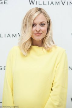 Fearne Cotton steps out in canary yellow dress and leopard-print heels – Beauty Make up Styles Yellow Blonde Hair, Baby Blonde Hair, Fearne Cotton Hair, Canary Yellow Dress, Leopard Print Heels, Shades Of Blonde, Fancy Hairstyles, Girly Outfits, New Hair