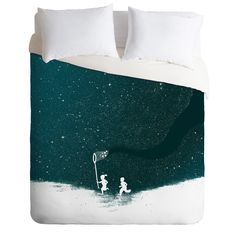 Budi Kwan Starfield Blue Duvet Cover | DENY Designs Home Accessories
