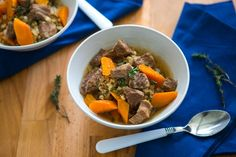 The Easiest Slow Cooker Vegetable, Beef, and Barley Soup from Cook Smarts