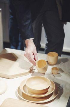 Cara linden wood dinnerware by Rina Ono - YUKARI Exhibition Opening Recap - Nalata Nalata