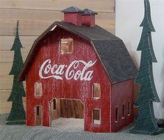Lighted Coca-Cola Barn!!