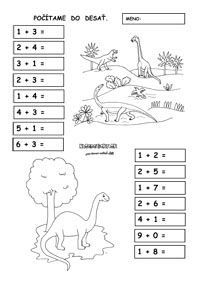 Pracovné listy z matematiky - prváci - Nasedeticky.sk Diagram, Houses, Math, Words, First Grade, Homes, Math Resources, House, Computer Case