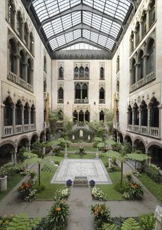 Isabella Stewart Gardner Museum (Boston).  How lovely to have a central garden like this.  Incredible!