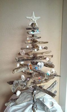 Beautiful Driftwood Christmas Tree with LED by DriftwoodDragon