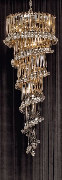 Signature Collection: Special Order Design: Grand Tall Tiered Crystal Chandelier * Pricing By Quotation Luxury Chandelier, Luxury Lighting, Modern Chandelier, Chandelier Lighting, Modern Lighting, Lighting Design, Designer Chandeliers, Large Chandeliers, Industrial Lighting
