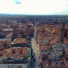 The streets of Bologna from above - I'm sad to leave this great city! - Instagram by backpackersteve
