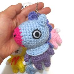 Bts Bag, Diy Crafts For Kids Easy, Amigurumi Doll, Key Chain, Crochet Projects, Crochet Patterns, Plush, Artsy, Bts Merch