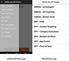 Announcing the Google Mobile Ads API Demo apps