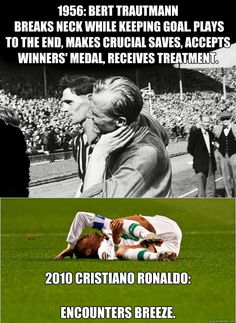 """""""Soccer - 1956 Vs 2010"""" I love soccer but this is just hilarious! What have the pro-soccer players come too?"""