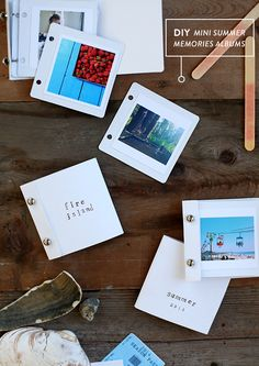 DIY mini summer memories albums