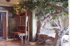 In touch with nature, its like the tree in the frank lyod wright home.