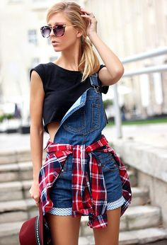 OMFG! NEED THIS TODAY! Tartan Shirts Tied Around The Waist