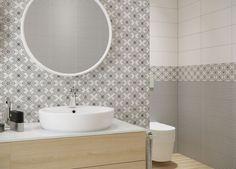 OPOCZNO, BLACK AND WHITE Black White Pattern, White Patterns, Color Patterns, Black And White, Laundry Room Bathroom, Bathrooms, White Tiles, Interior Inspiration, Interior Design