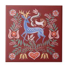 Hungarian folk art that reminds me of Pennsylvania Dutch designs.Deer, flowers, and heart folk painting.