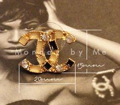 Chanel inspired stud Earrings with rhinestones by Mondaybyme, $8.00