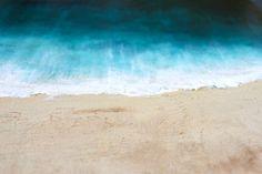 Strand original abstrakte Kunst Acrylbild auf Dicke von StudioZen