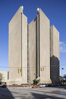 Brutalist architecture - Buffalo City Court Building, in Buffalo, NY