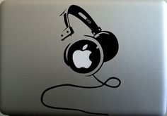 $6.50 Headset (2)- Macbook Decal Macbook Stickers Mac Decals Apple Decal for Macbook Pro Air / iPad / iPhone