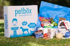 Pet Box is a monthly subscription box for dogs and cats. Each month you can select toys, treats, grooming items you want in your box (typically 5-6 items), or be surprised.
