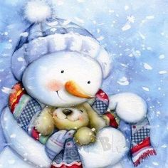 DBK Art Licensing - Original Illustrations & Photography for Greeting Cards, Gift Wrap, Napkins, Stickers, and much more. Christmas Clipart, Vintage Christmas Cards, Christmas Greeting Cards, Christmas Pictures, Christmas Snowman, Christmas Greetings, Xmas, Christmas Decor, Frosty The Snowmen