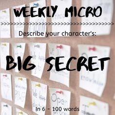 It's time for our Weekly Micro! Feel up to the challenge? Feel free to post your micro on our forum!