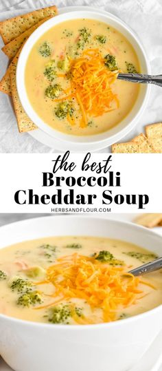 Making a creamy, homemade Broccoli Cheddar Soup is easy to do using simple ingredients! Learn how to make the BEST healthy soup without heavy cream and have a low-carb dinner on the table in just 35 minutes! Easy Stew Recipes, Chowder Recipes, Quick Dinner Recipes, Healthy Soup Recipes, Hearty Vegetable Soup, Dairy Free Soup, Vegetarian Soup, Broccoli Cheddar, Homemade Soup