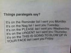 Things paralegals say