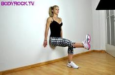 static wall sit - one leg out