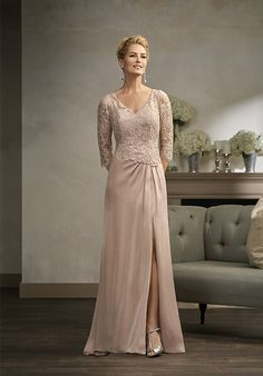 Jade Couture K198002 Champagne Mother Of The Bride Dress