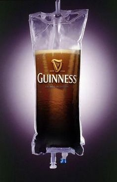 Not that big of a Guinness fan but that's my kind of IV
