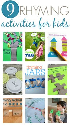 GREAT rhyming activities for kids. Perfect for kindergarten.