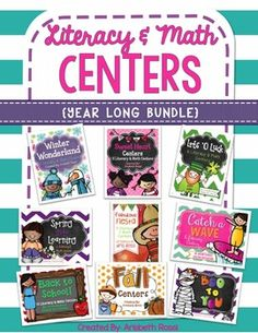 Literacy and Math Centers (Year Long Bundle)