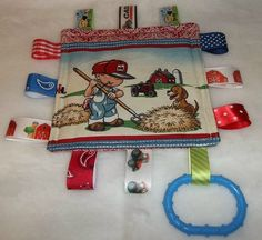 International harvester Farmall Case Tractor Children Puppy Mini Tag a long Ribbon Tags Lovey Blankie on Etsy, $12.99